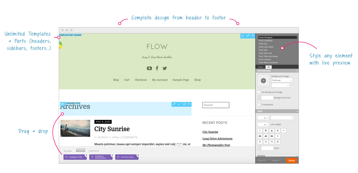Flow interface